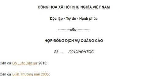 Mẫu Hợp Đồng Quảng Cáo Trên Fanpage Cá Nhân cụ thể nhất