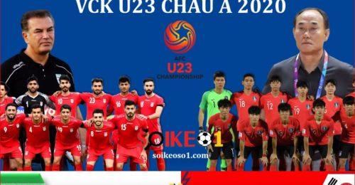 Trực tiếp Iran gặp U23 Hàn Quốc