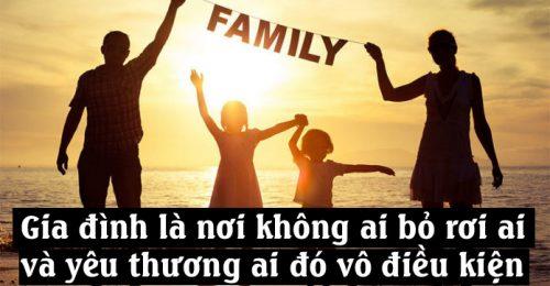 Stt hạnh phúc gia đình – GIA ĐÌNH là điều tuyệt vời nhất