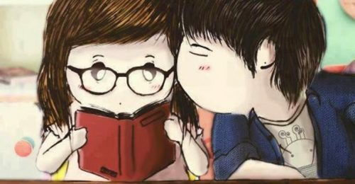 [Đăng] Ảnh bìa hoạt hình dễ thương về tình yêu cực cut