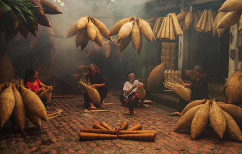 Hình ảnh buồn một góc nhỏ về cuộc sống con người thôn quê giản dị và bình yên