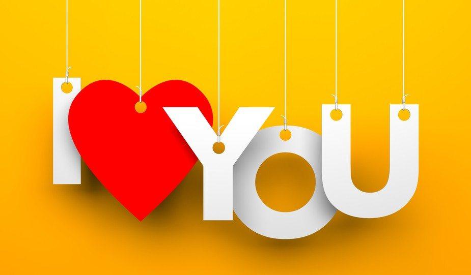 Cute word LOVE word image