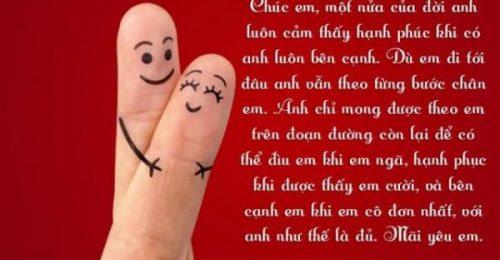 TOP những lời chúc ngọt ngào dành cho người yêu thay lời trái tim