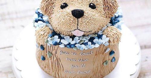 105 Hình ảnh bánh sinh nhật con chó dễ thương cho người tuổi tuất
